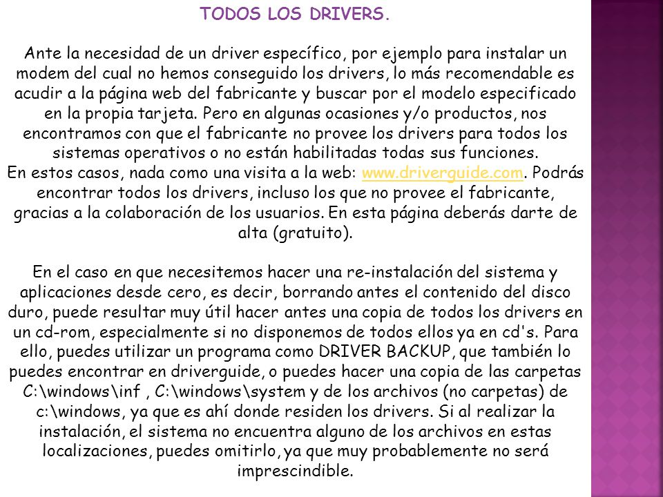 TODOS LOS DRIVERS.