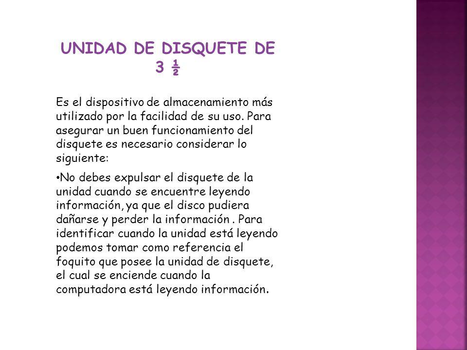 UNIDAD DE DISQUETE DE 3 ½