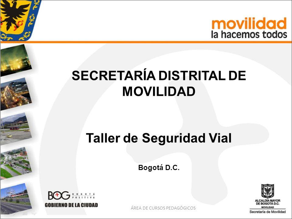 SECRETARÍA DISTRITAL DE MOVILIDAD Taller de Seguridad Vial