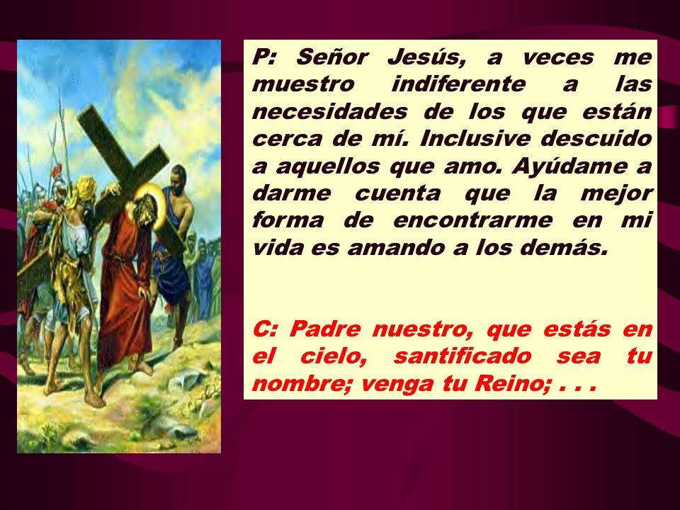 P: Señor Jesús, a veces me muestro indiferente a las necesidades de los que están cerca de mí. Inclusive descuido a aquellos que amo. Ayúdame a darme cuenta que la mejor forma de encontrarme en mi vida es amando a los demás.