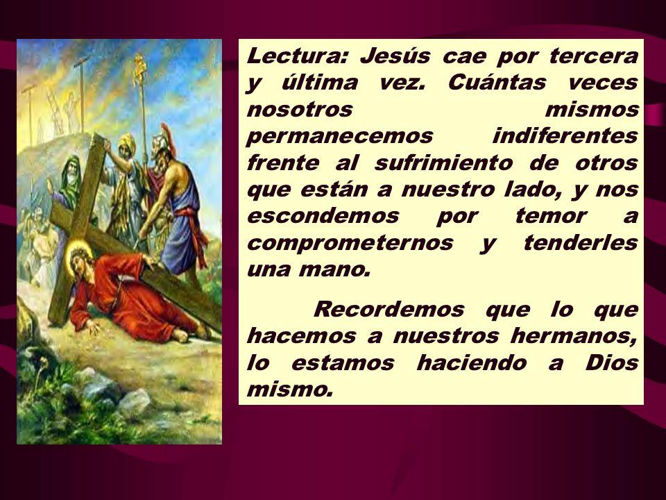 Lectura: Jesús cae por tercera y última vez