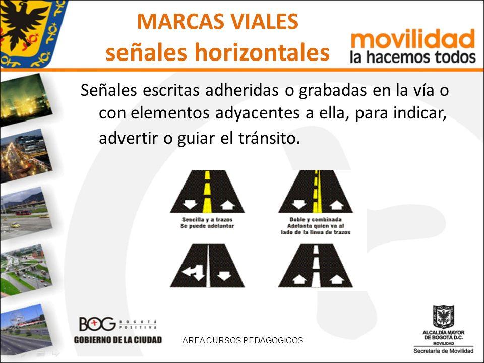 MARCAS VIALES señales horizontales