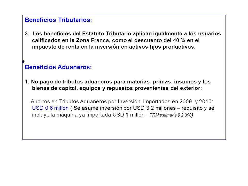 Beneficios Tributarios: