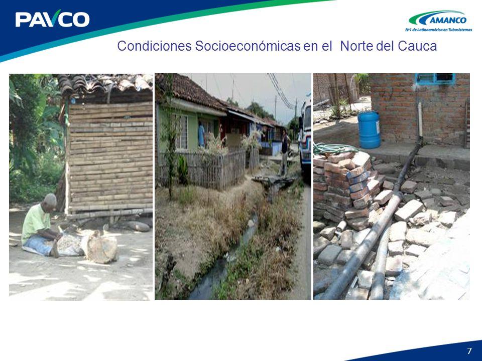 Condiciones Socioeconómicas en el Norte del Cauca