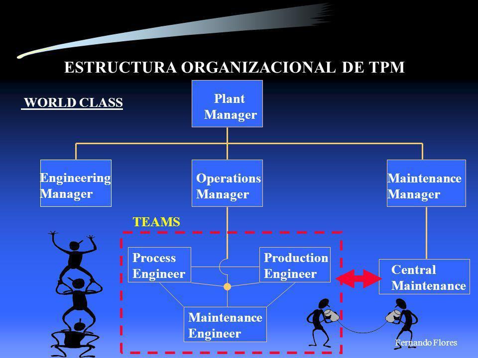ESTRUCTURA ORGANIZACIONAL DE TPM