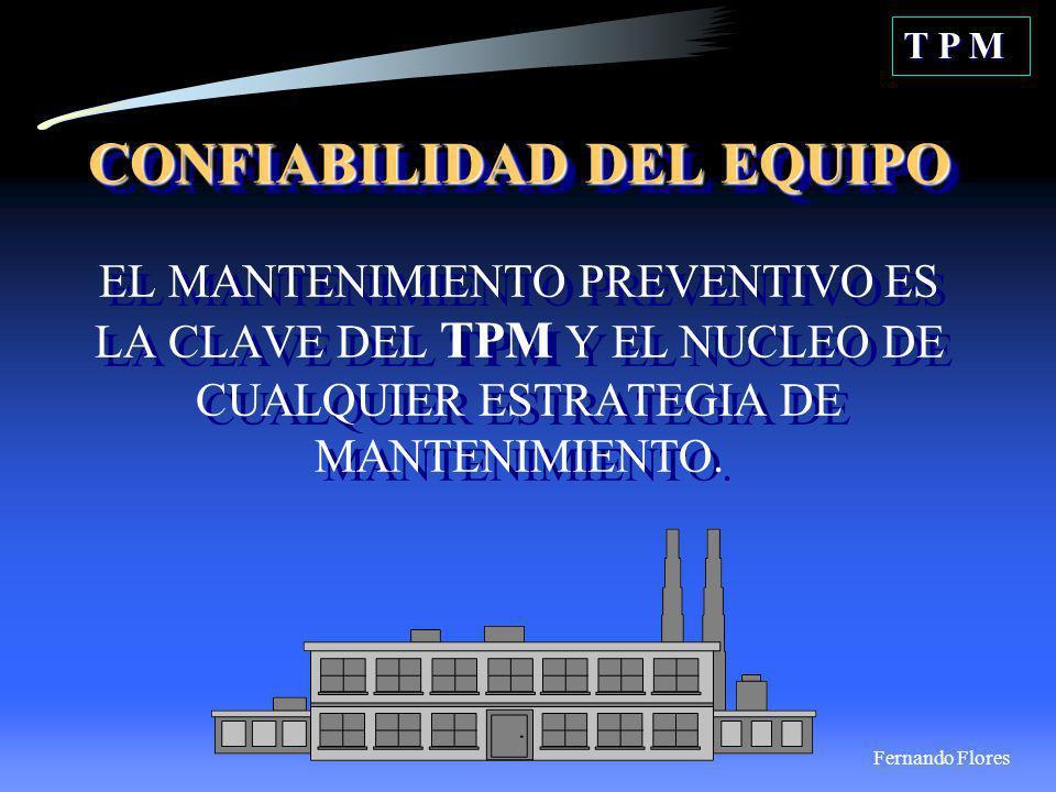 T P MCONFIABILIDAD DEL EQUIPO EL MANTENIMIENTO PREVENTIVO ES LA CLAVE DEL TPM Y EL NUCLEO DE CUALQUIER ESTRATEGIA DE MANTENIMIENTO.