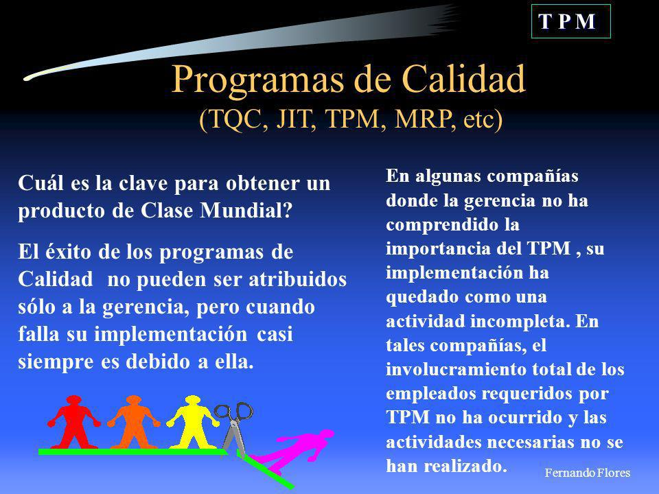 Programas de Calidad (TQC, JIT, TPM, MRP, etc)