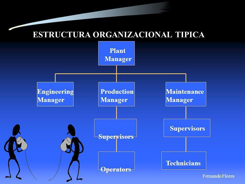 ESTRUCTURA ORGANIZACIONAL TIPICA