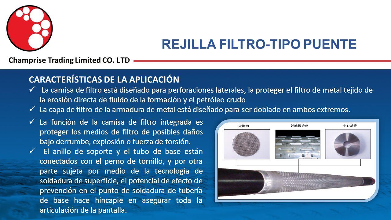 REJILLA FILTRO-TIPO PUENTE