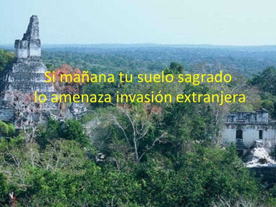 Si mañana tu suelo sagrado lo amenaza invasión extranjera