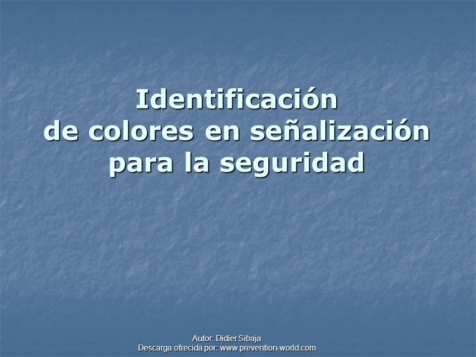 Identificación de colores en señalización para la seguridad