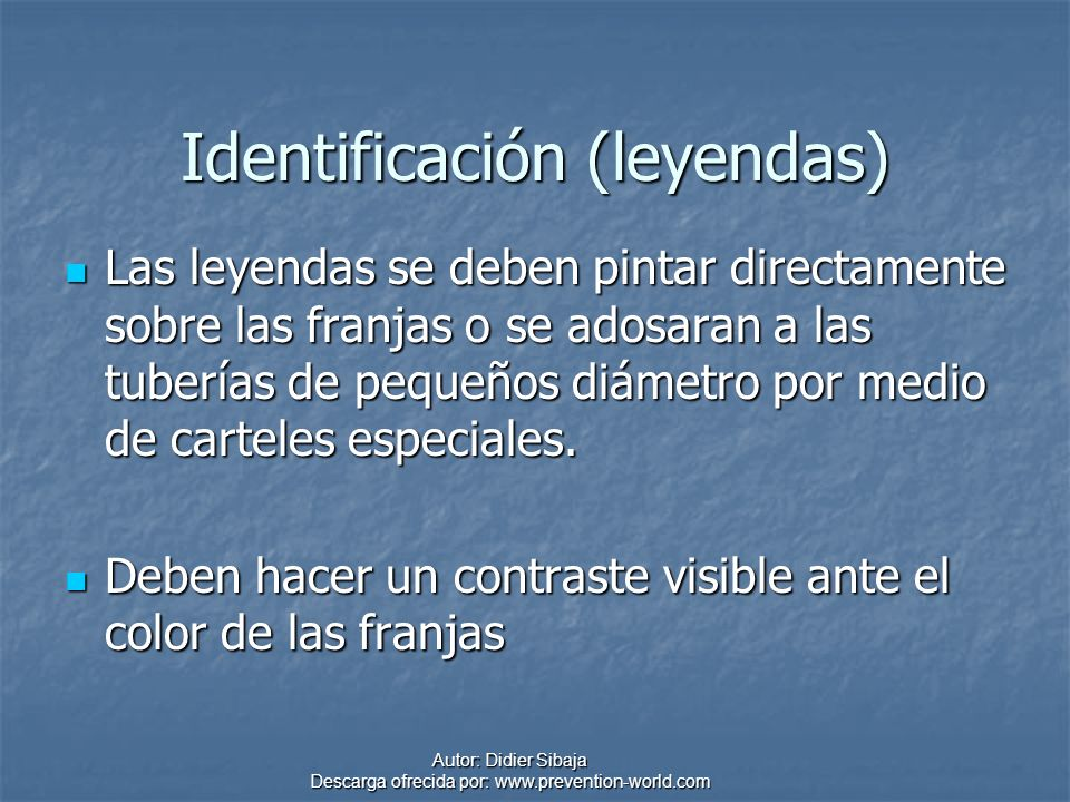 Identificación (leyendas)