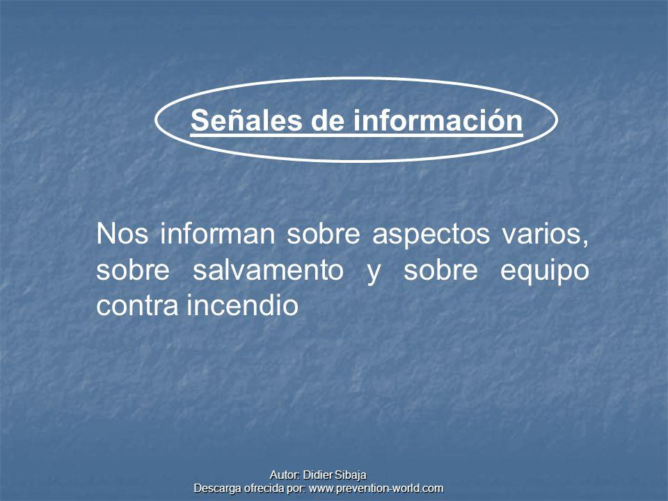 Señales de información