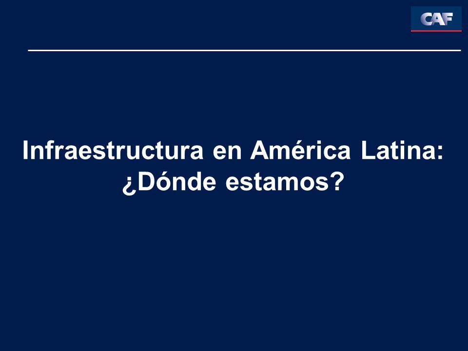 Infraestructura en América Latina: ¿Dónde estamos