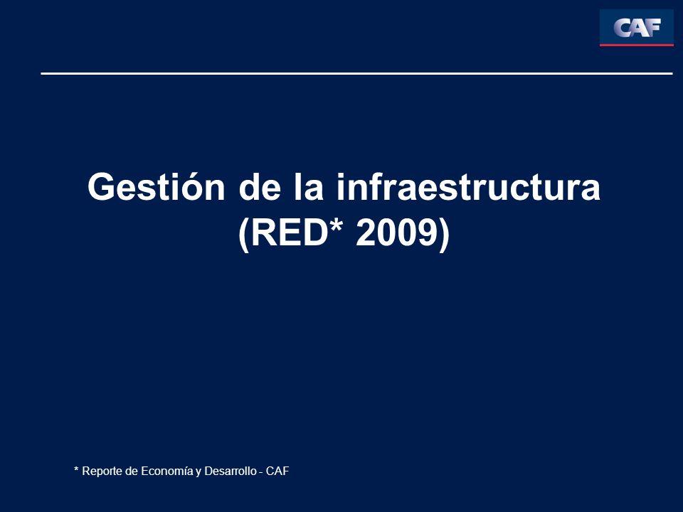 Gestión de la infraestructura (RED* 2009)