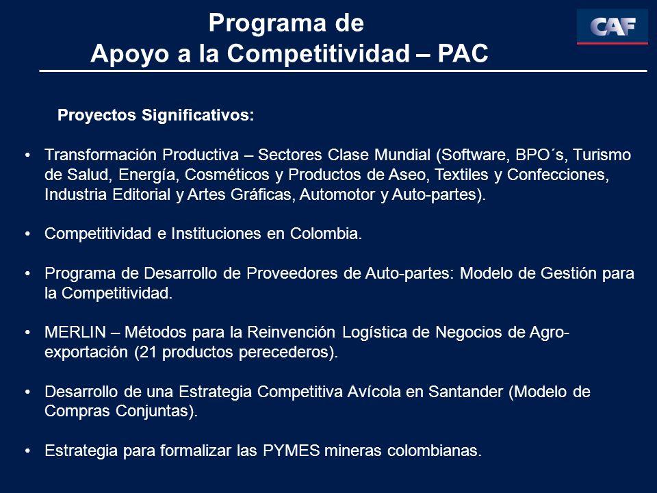 Apoyo a la Competitividad – PAC