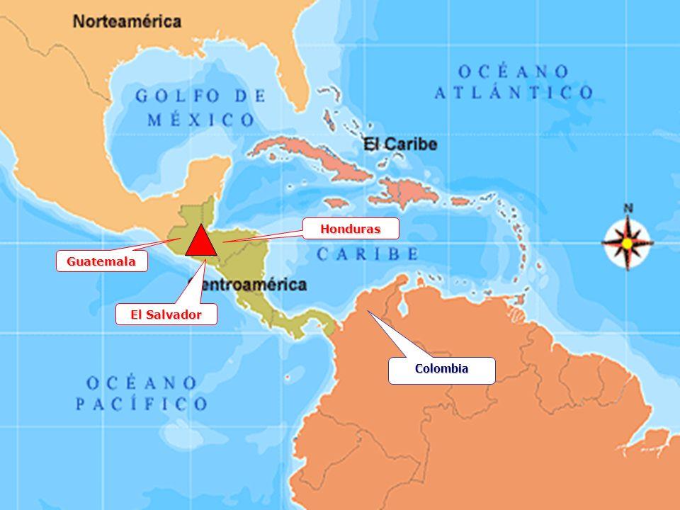 Honduras Guatemala El Salvador Colombia