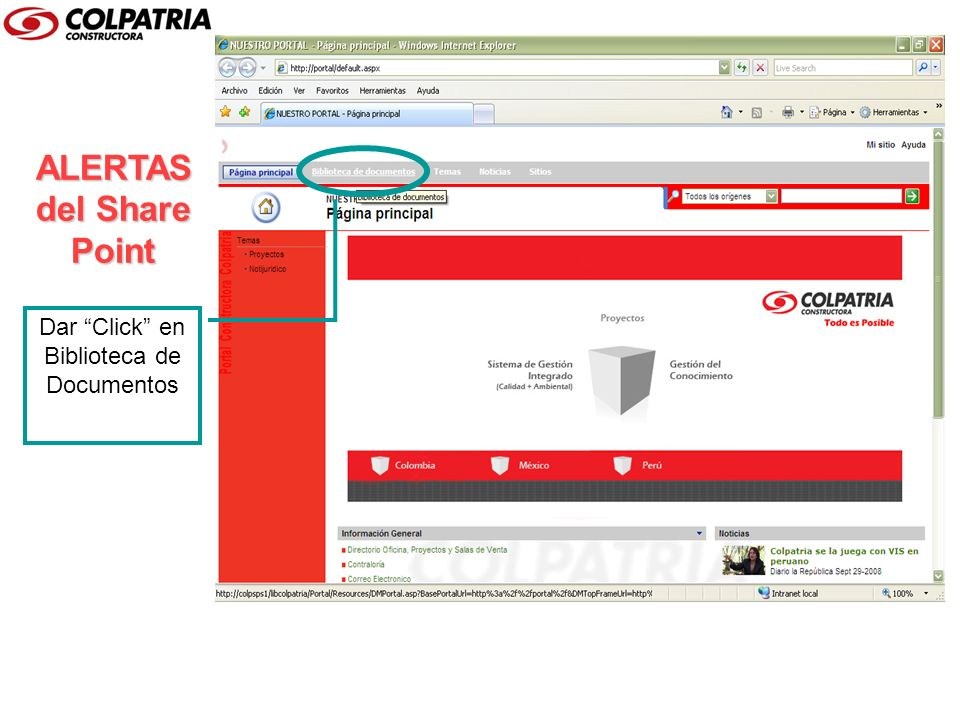 ALERTAS del Share Point