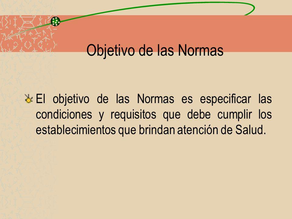 Objetivo de las Normas