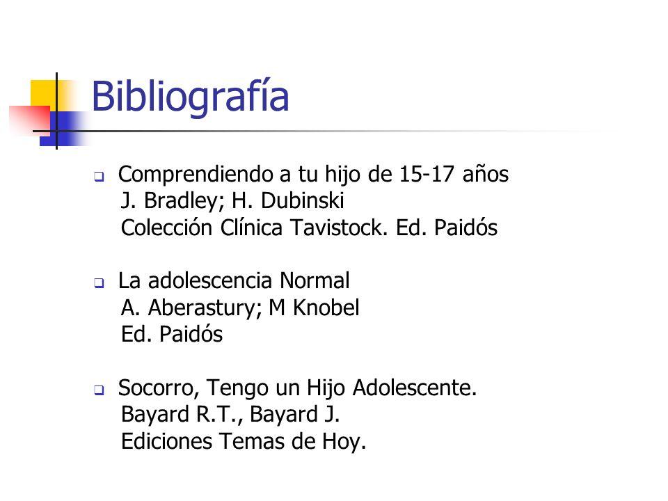 Bibliografía Comprendiendo a tu hijo de 15-17 años
