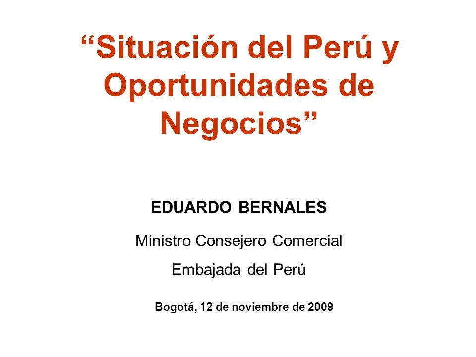 Situación del Perú y Oportunidades de Negocios