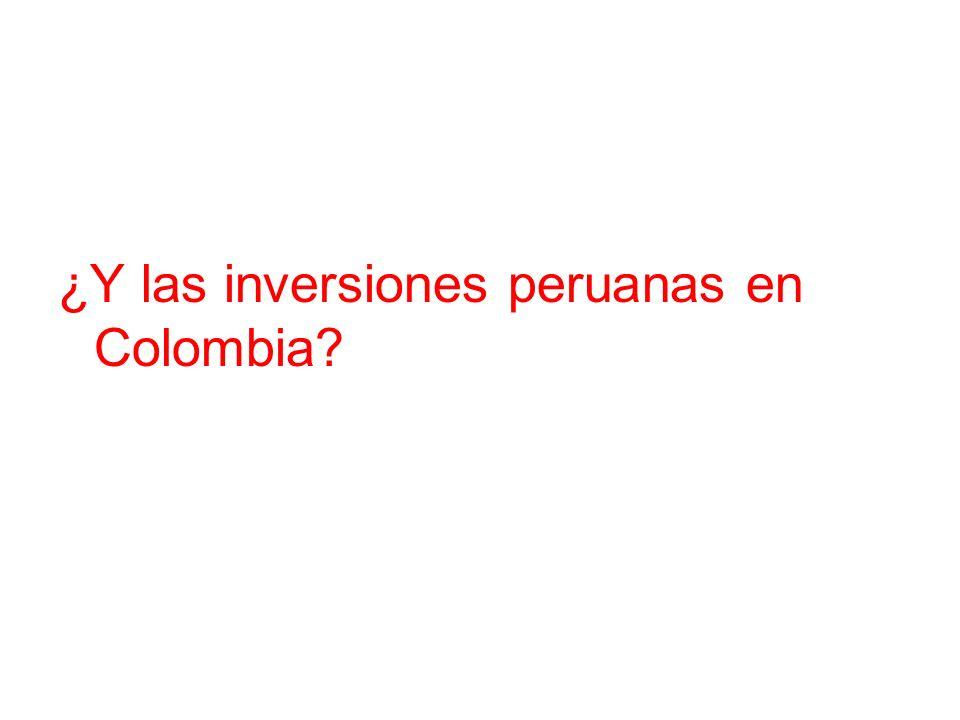 ¿Y las inversiones peruanas en Colombia