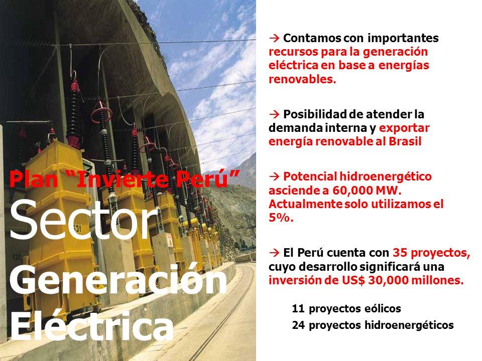 Sector Generación Eléctrica Plan Invierte Perú