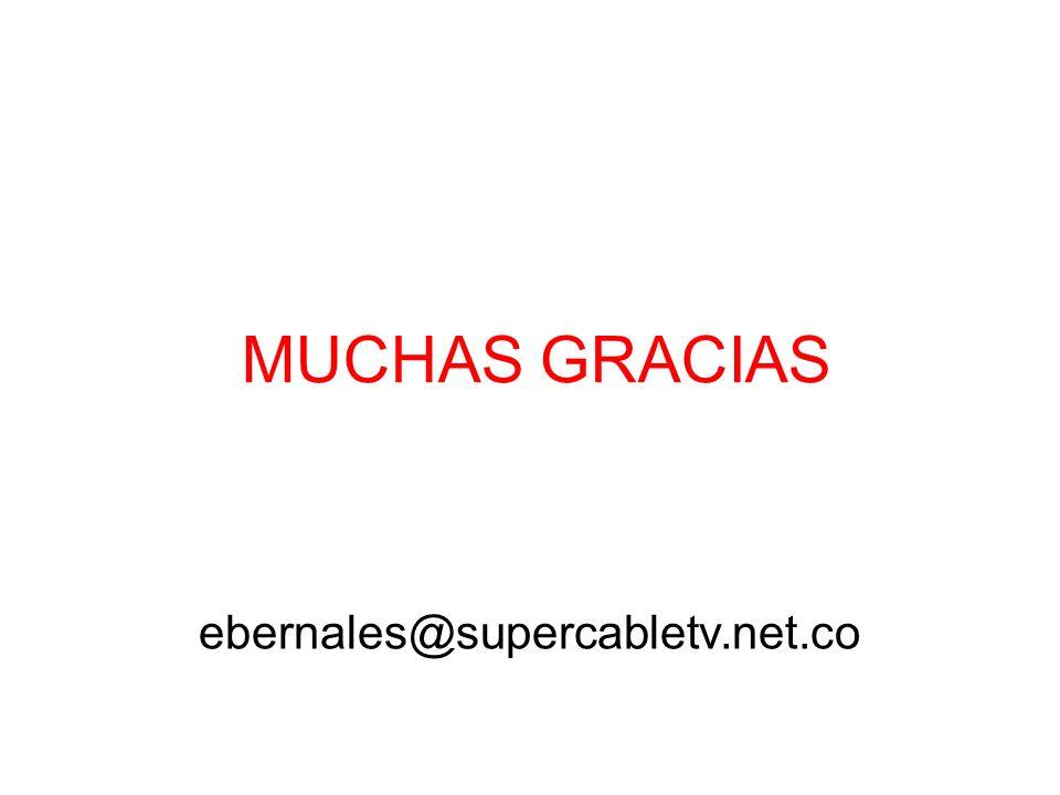 MUCHAS GRACIAS ebernales@supercabletv.net.co