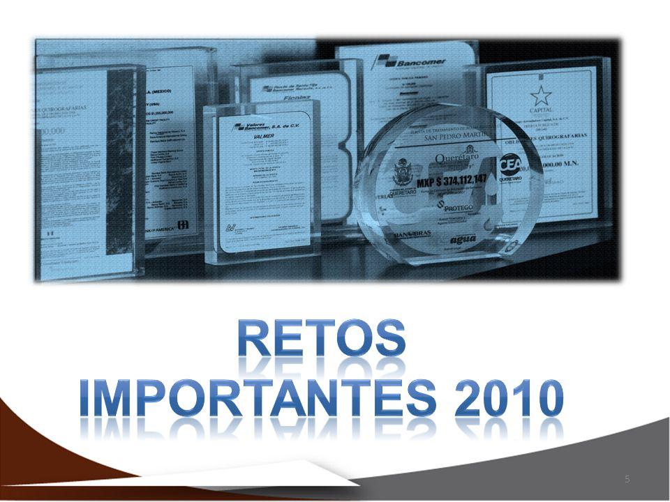 RETOS IMPORTANTES 2010