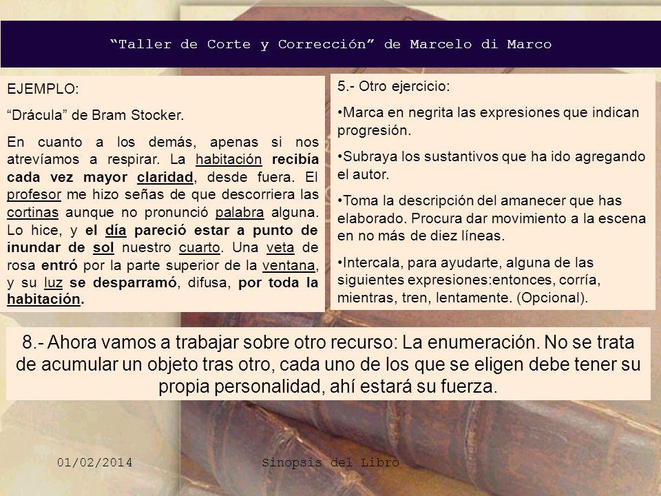 EJEMPLO: Drácula de Bram Stocker.