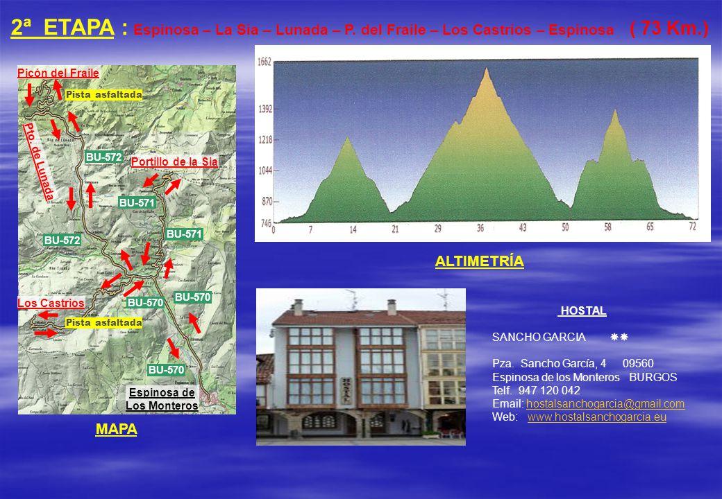 2ª ETAPA : Espinosa – La Sia – Lunada – P