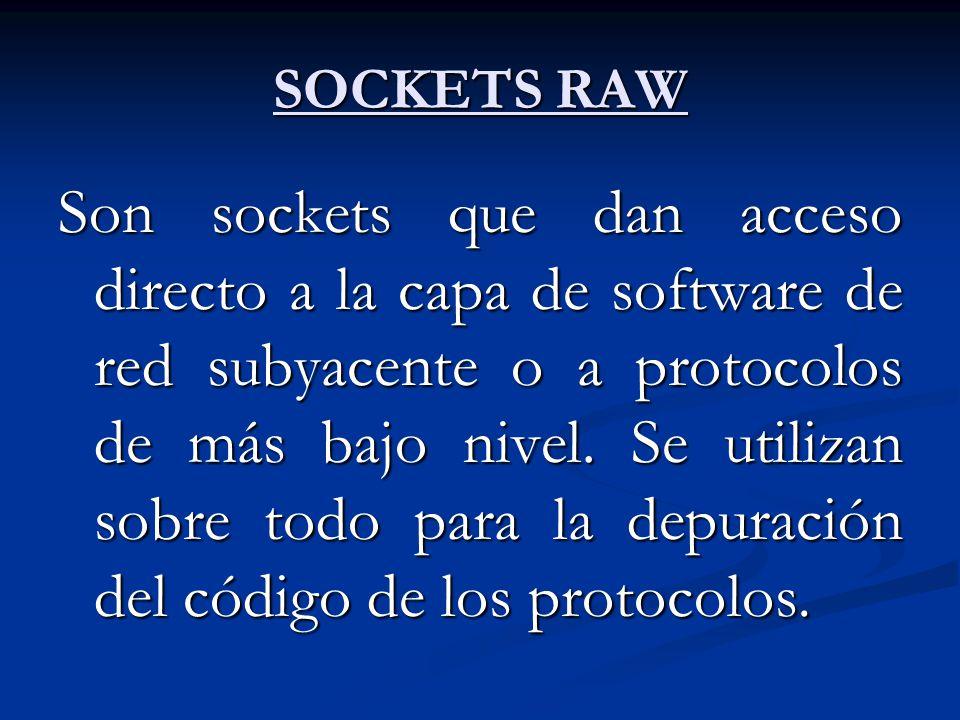 SOCKETS RAW