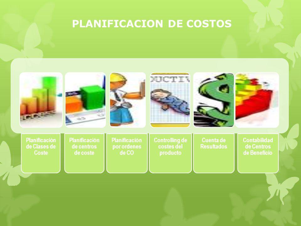 PLANIFICACION DE COSTOS