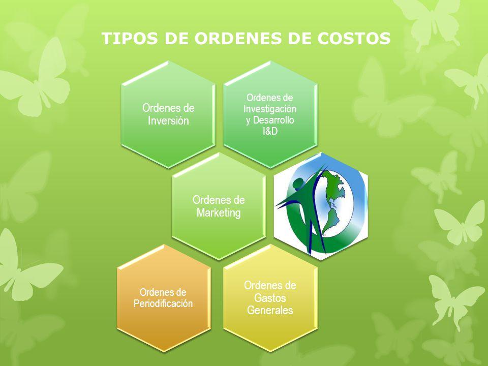 TIPOS DE ORDENES DE COSTOS
