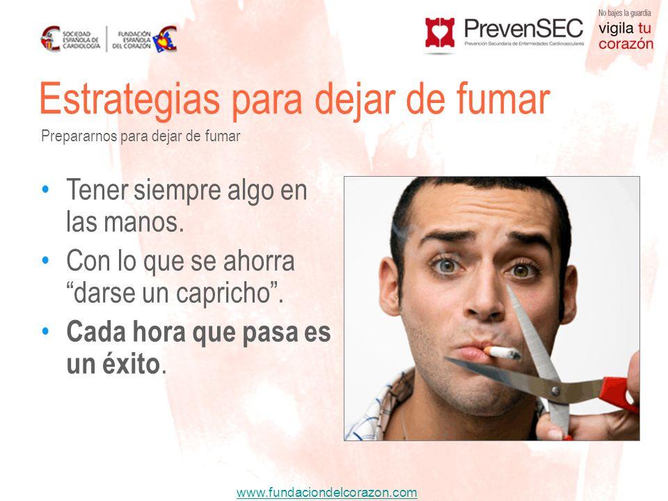 Estrategias para dejar de fumar