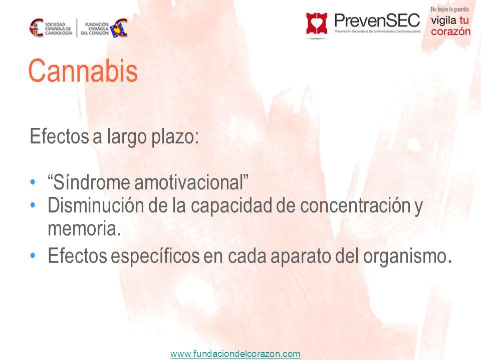 Cannabis Efectos a largo plazo: Síndrome amotivacional