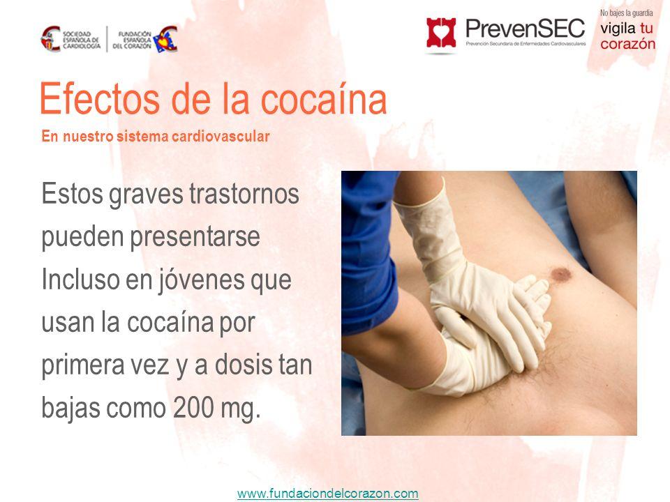 Efectos de la cocaína Estos graves trastornos pueden presentarse