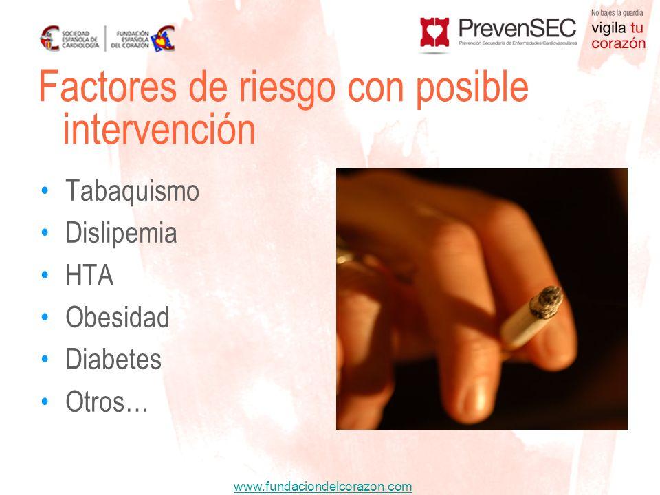 Factores de riesgo con posible intervención