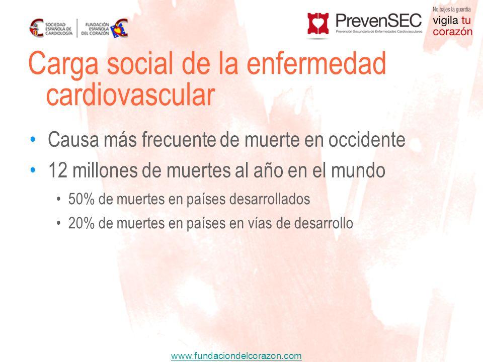 Carga social de la enfermedad cardiovascular