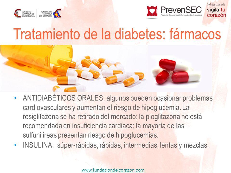 Tratamiento de la diabetes: fármacos