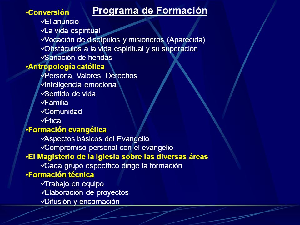 Programa de Formación Conversión El anuncio La vida espiritual