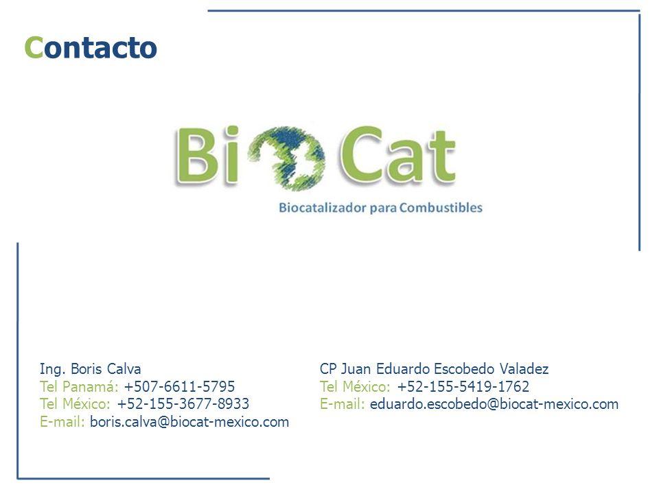 Contacto Ing. Boris Calva Tel Panamá: +507-6611-5795