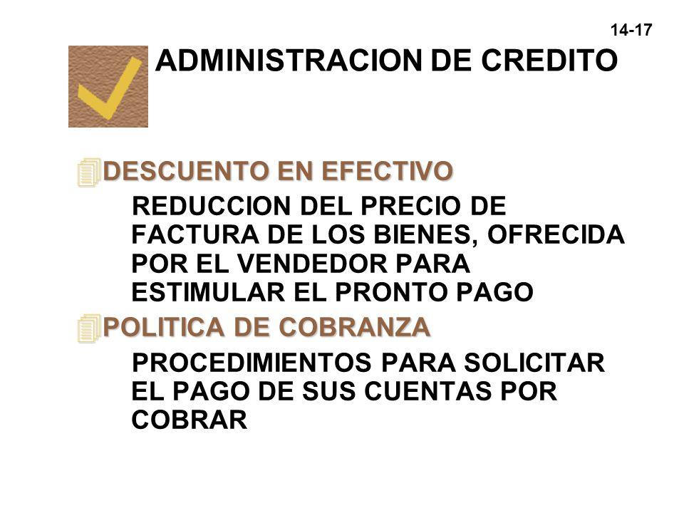 ADMINISTRACION DE CREDITO