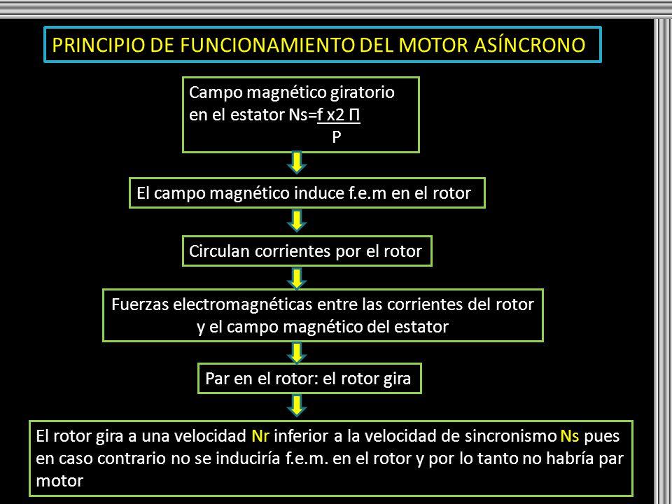 PRINCIPIO DE FUNCIONAMIENTO DEL MOTOR ASÍNCRONO
