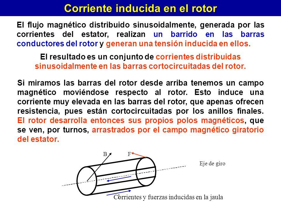 Corriente inducida en el rotor