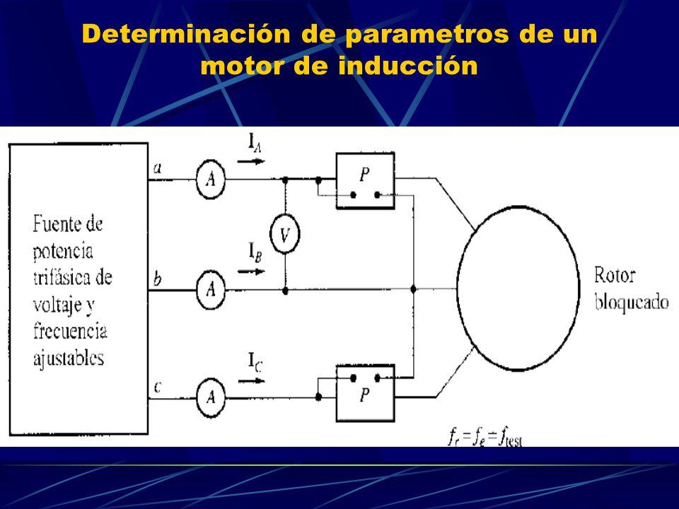 Determinación de parametros de un motor de inducción
