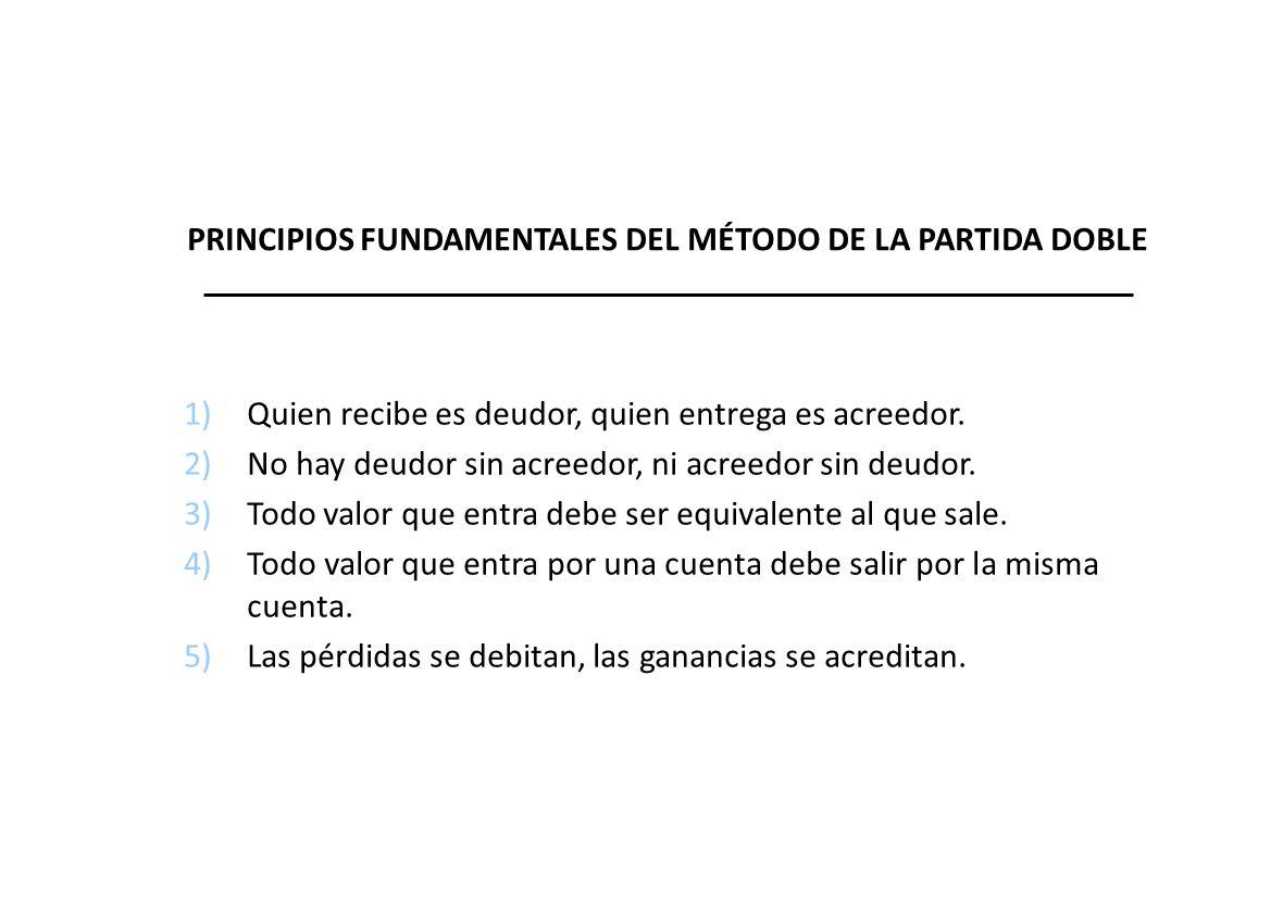 PRINCIPIOS FUNDAMENTALES DEL MÉTODO DE LA PARTIDA DOBLE