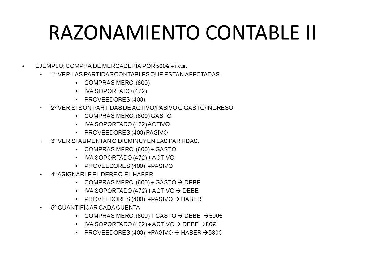RAZONAMIENTO CONTABLE II
