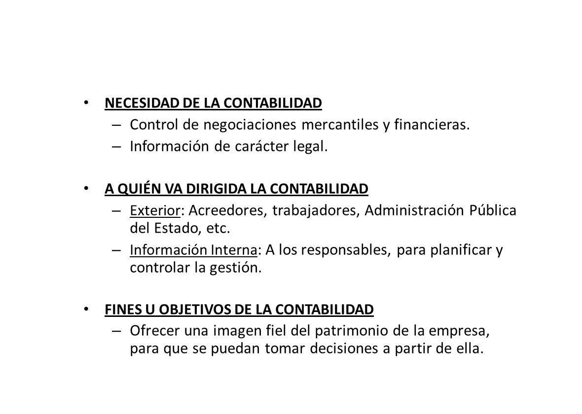 Control de negociaciones mercantiles y financieras.