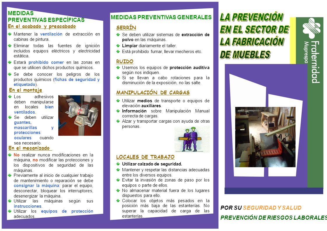 PREVENTIVAS ESPECÍFICAS MEDIDAS PREVENTIVAS GENERALES